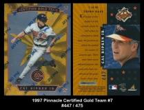 1997 Pinnacle Certified Gold Team #7