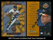 1997 Pinnacle Certified Gold Team Samples #7