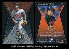 1997 Pinnacle Certified Lasting Impressions #1