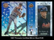 1997 Pinnacle Certified Mirror Blue #146