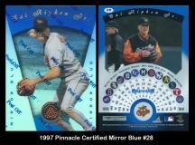 1997 Pinnacle Certified Mirror Blue #28