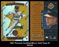1997 Pinnacle Certified Mirror Gold Team #7