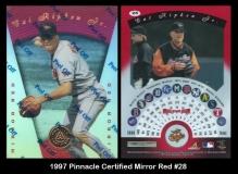 1997 Pinnacle Certified Mirror Red #28