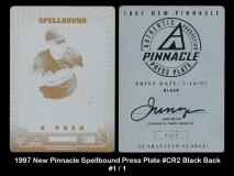 1997 New Pinnacle Spellbound Press Plate #CR2 Black Back