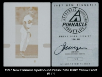 1997 New Pinnacle Spellbound Press Plate #CR2 Yellow Front