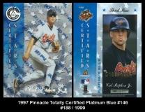 1997 Pinnacle Totally Certified Platinum Blue #146