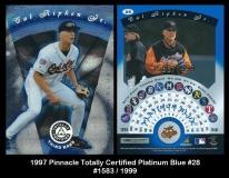 1997 Pinnacle Totally Certified Platinum Blue #28