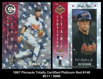 1997 Pinnacle Totally Certified Platinum Red #146