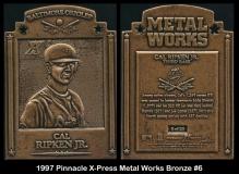 1997 Pinnacle X-Press Metal Works Bronze #6