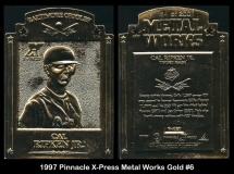 1997 Pinnacle X-Press Metal Works Gold #6