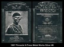 1997 Pinnacle X-Press Metal Works Silver #6