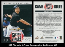 1997 Pinnacle X-Press Swinging for the Fences #48