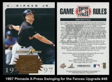 1997 Pinnacle X-Press Swinging for the Fences Upgrade #48