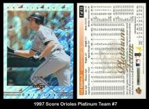 1997 Score Orioles Platinum Team Collection #7