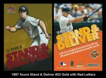 1997 Score Stand & Deliver #23 Gold with Red letters