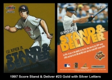 1997 Score Stand & Deliver #23 Gold with Silver Letters