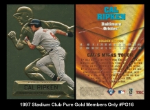 1997 Stadium Club Pure Gold Members Only #PG16