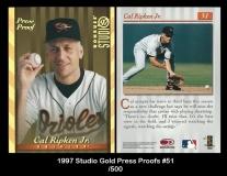 1997 Studio Gold Press Proofs #51