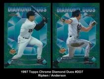 1997 Topps Chrome Diamond Duos #DD7