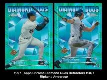 1997 Topps Chrome Diamond Duos Refractors #DD7