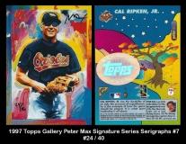 1997 Topps Gallery Peter Max Signature Series Serigraphs #7