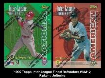 1997 Topps Inter-League Finest Refractors #ILM12