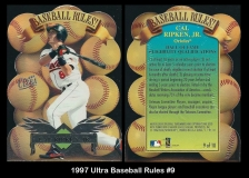 1997 Ultra Baseball Rules #9