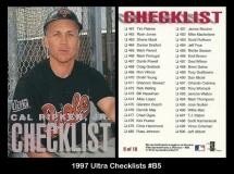 1997 Ultra Checklists #B5