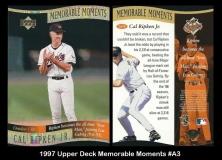 1997 Upper Deck Memorable Moments #A3