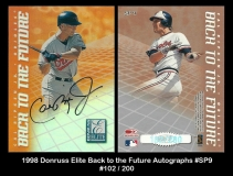 1998 Donruss Elite Back to the Future Autographs #SP9