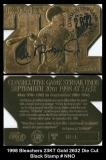 1998 Bleachers 23KT Gold 2632 Die Cut Black Stamp #NNO