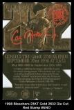 1998 Bleachers 23KT Gold 2632 Die Cut Red Stamp #NNO