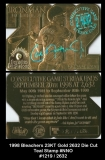 1998 Bleachers 23KT Gold 2632 Die Cut Teal Stamp #NNO