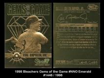 1998 Bleachers Gems of the Game #NNO Emerald