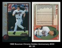 1998 Bowman Chrome Golden Anniversary #222