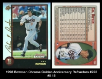 1998 Bowman Chrome Golden Anniversary Refractors #222