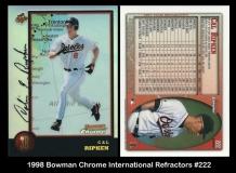 1998 Bowman Chrome International Refractors #222