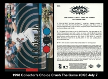 1998 Collector's Choice Crash The Game #CG5 July 7