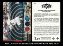 1998 Collector's Choice Crash The Game #CG5 June 22-25