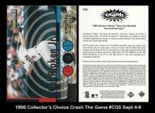 1998 Collector's Choice Crash The Game #CG5 Sept 4-6