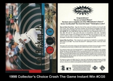 1998 Collector's Choice Crash The Game Instant Win #CG5