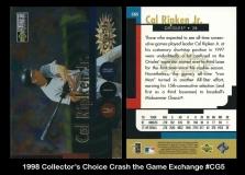 1998 Collector's Choice Crash the Game Exchange #CG5