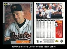 1998 Collectors Choice Orioles Team Set #1