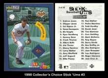 1998 Collectors Choice Stick 'Ums #3