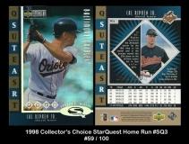 1998 Collector's Choice StarQuest Home Run #SQ3