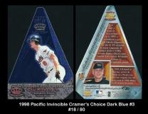 1998 Pacific Invincible Cramers Choice Dark Blue #3