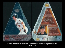 1998 Pacific Invincible Cramers Choice Light Blue #3