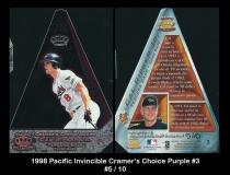 1998 Pacific Invincible Cramers Choice Purple #3