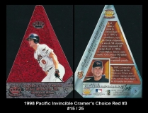 1998 Pacific Invincible Cramers Choice Red #3