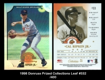 1998 Donruss Prized Collections Leaf #332